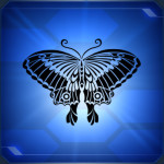 ラクカノチョウB Rakuka Butterfly B