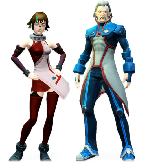 PSO2 Rico and Flowen