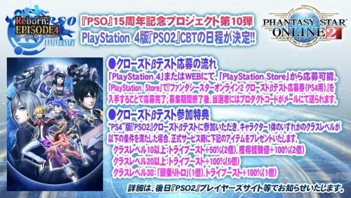 CBT Announce PSO2