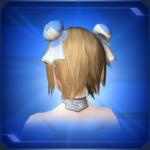 蓮花シニヨン 青Blue Lotus Chignon