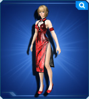 China Dress Crimson
